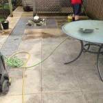 freshly cleaned patio